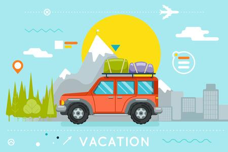 Travel Concept Summer Vacation Illustration
