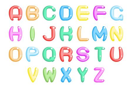 Children party abstract fun alphabet a to a font symbol icon vector illustration Illusztráció