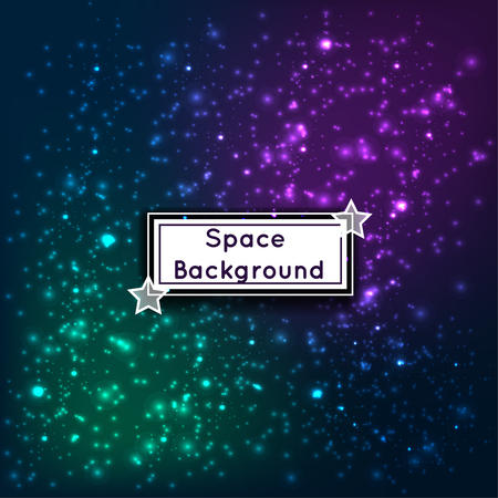 Universe space stars galaxies abstract background vector illustration