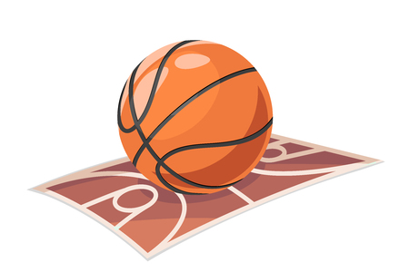 Basketball ball field sport isolated cartoon icon vector illustration
