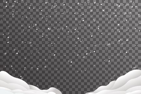 Snowdrifts winter christmas new year design decoration elements template vector illustration Stock Illustratie