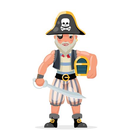 Pirate costume masquerade character party design vector illustration Stock Illustratie