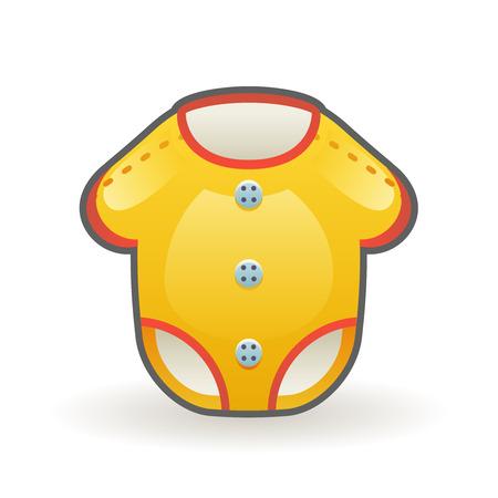 Bodysuit for newborns cartoon baby dress wear design clothing vector illustration Stock Illustratie