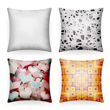 Soft pillow sleep abstract print realistic template icon mockup design vector illustration