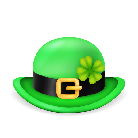 Bowler hat saint patrick day ireland feast isolated 3d vintage design vector illustration