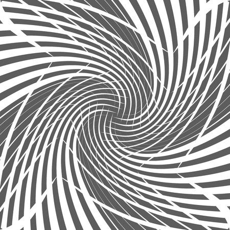 Abstract geometric twirl halftone spiral background design vector illustration