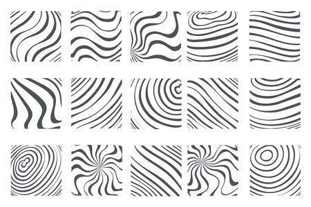 Topology abstract isolated on white abstract waves flowing squares fingerprint background design art template set vector illustration