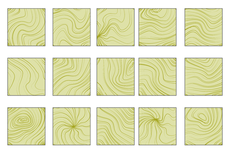 GIS abstract isolated on white abstract waves flowing squares geographic information system background design art template set vector illustration