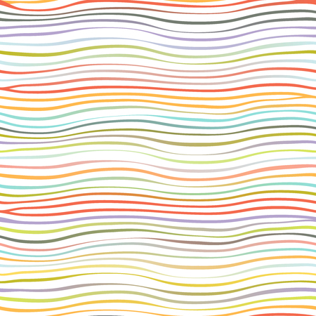 Colorful waves abstract template geometric design seamless background isolated on white vector illustration