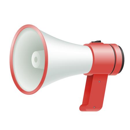 loud speaker megaphone loudspeaker voice amplifier advertisement template object shout vector Illustration Stock Vector - 124354550