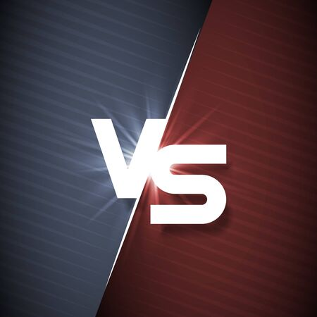 White vs letter energy conflict game versus screen action fight competition background vector graphic illustration Ilustrace