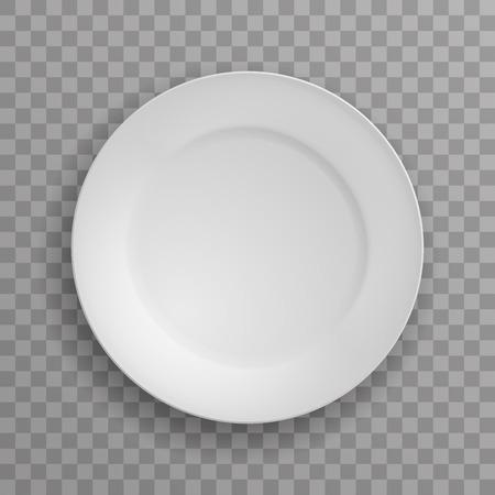 Dish plate kitchen food kitchen white porcelain dishware transparent background vector illustration