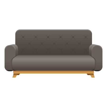 Sofa house interior couch icon furniture design lounge vector illustration Banque d'images - 145226122