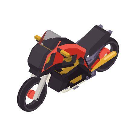 Isometric bike flat sport design vector illustration Vettoriali