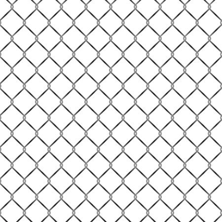 Seamless metal grid fence pattern design vector illustration
