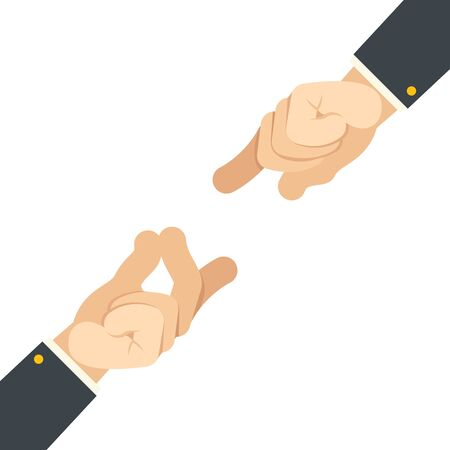 Finger snap hand gesture attract flat design vector illustration Stock Illustratie