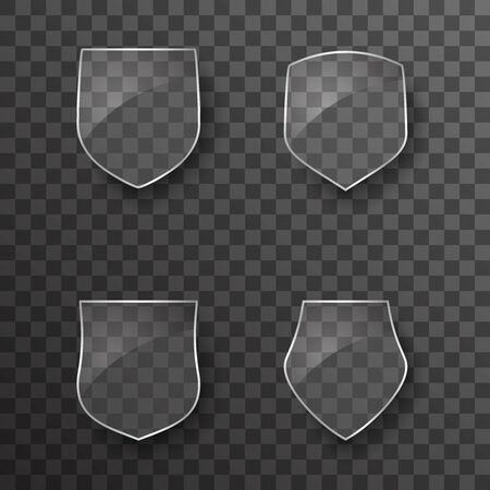 Glass shield protection icons template design vector illustration Stock Illustratie