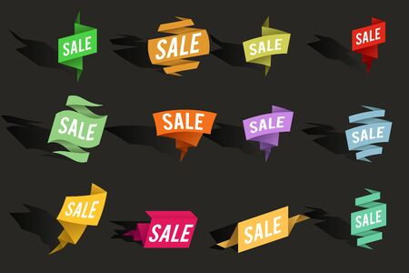 Sale advertising banner layout special offer concept sticker vector illustration