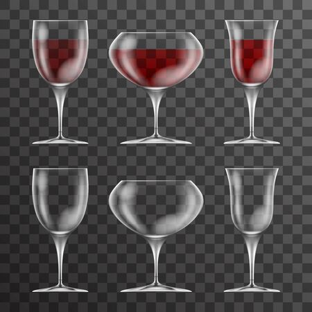 Vine cup glass drink icons template design vector illustration