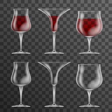 Glass drink cup icons template design vector illustration