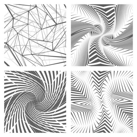 Geometric abstract background set design concept isolated on white vector illustration Stock Illustratie