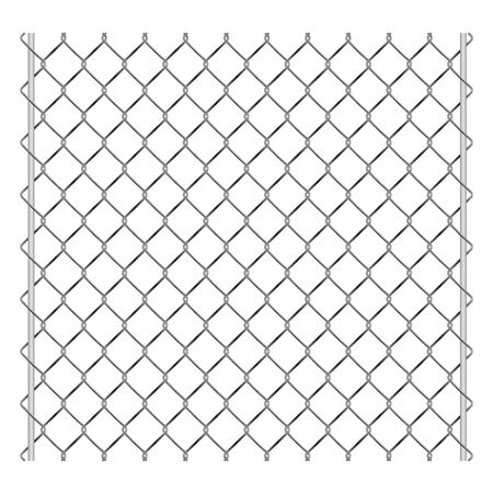 Metal grid palisade fence design vector illustration