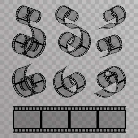 Video film tape videotape design vector illustration