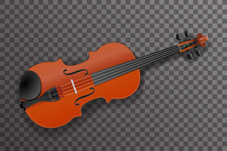 Violin classical music instrument design vector illustration Illustration