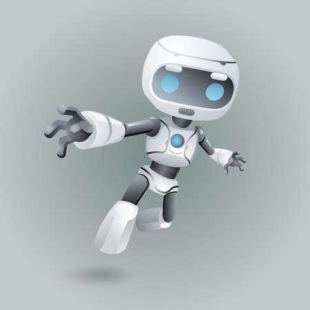 Flying robot technology science fiction future 3d design vector illustration 矢量图像