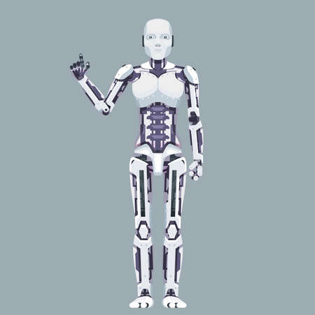 Robot android technology science fiction future 3d design vector illustration