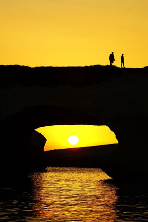 Arch between the rocks