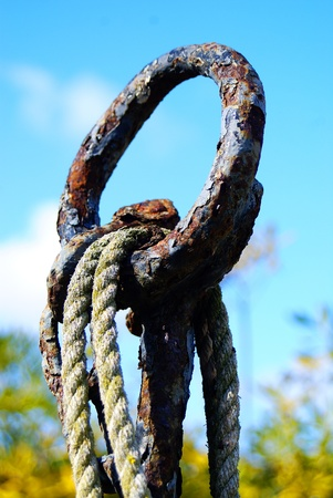rusty ring and rope