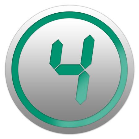 Vector Nummer vier 4