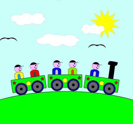 Train children