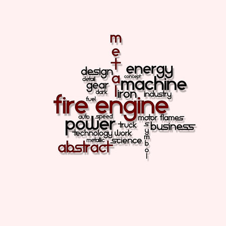 Written vector engine fire on a pink background Illustration