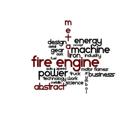 Geschrieben Vektor-Engine Feuer auf einem transparenten Hintergrund