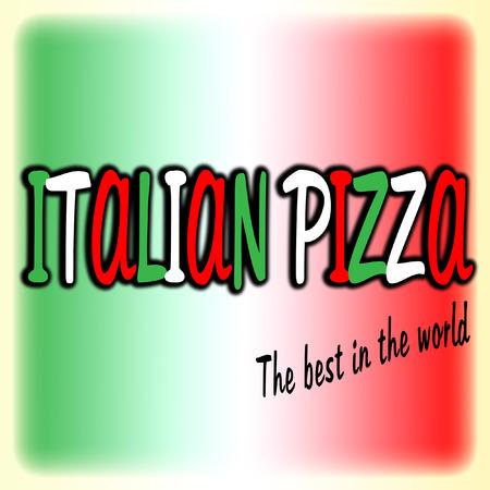Italian pizza vector logo Illustration