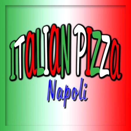 Italian pizza Napoli Illustration