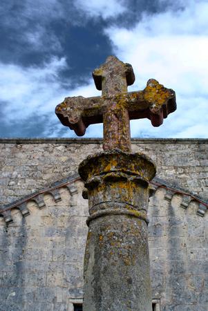Cross church on sky