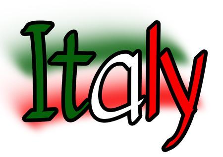 Italy vector written