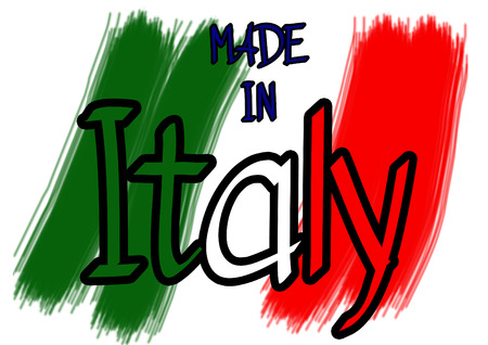 Made in Italy vector written Illustration