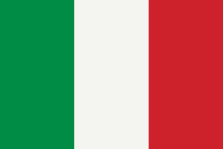 Vector Flag of Italy with official colors and proportions