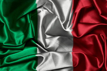 Vector Flag of Italy with official colors and proportions canvas Vector