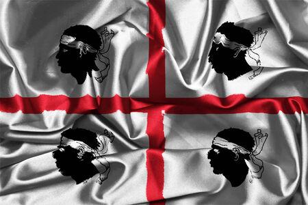 Flag of Sardinia vector canvas