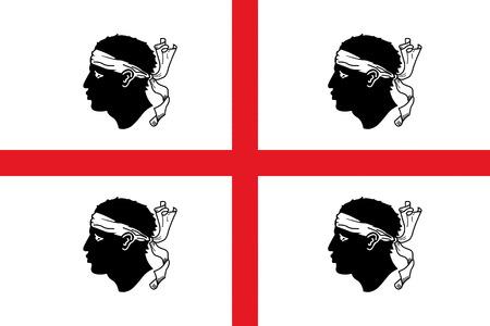 Flag of Sardinia vector