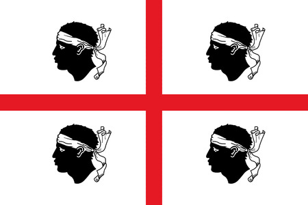 sardinia: Flag of Sardinia vector