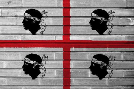 Flag of Sardinia vector in wall