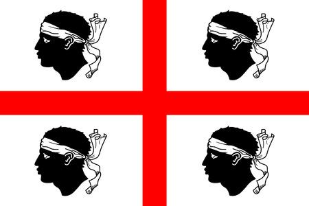 Vlag van Sardinië Vector Illustratie