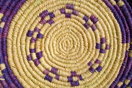 Detail of rattan basket traditional Sardinian
