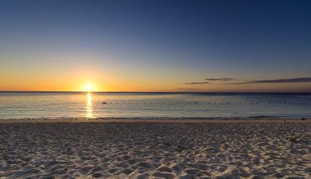 Beautiful sunset at Indian ocean Stock Photo